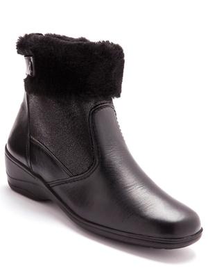 Boots cuir fourrées à semelle amovible