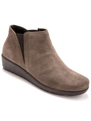Boots élastiquées à semelle amovible