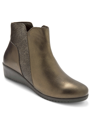 Boots cuir bicolore Pédiconfort®