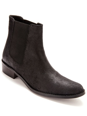 Boots élastiquées cuir