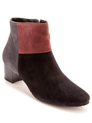 Boots cuir velours à aérosemelle®