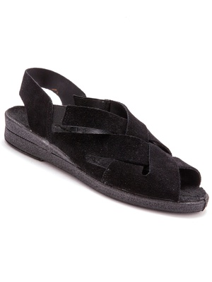 Sandales en cuir velours ultra-souple