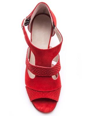 Sandales cuir velours largeur confort