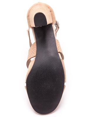 Sandales cuir bimatière grande largeur