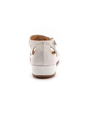 Sandales cuir ajouré style «spartiate»