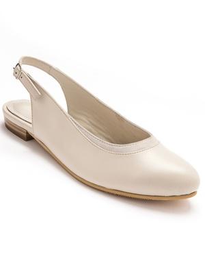 Sandales cuir à bride arrière