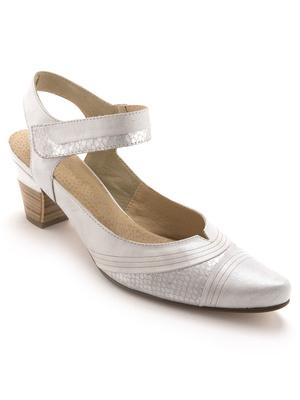 Sandales auto-agrippantes cuir nacré
