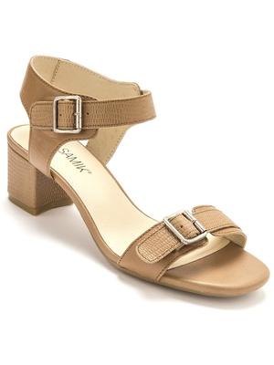 Sandales cuir à larges boucles réglables