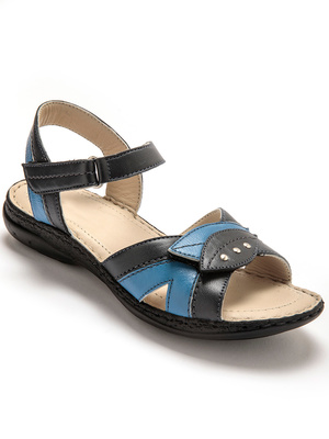 Sandales ouverture totale cuir irisé
