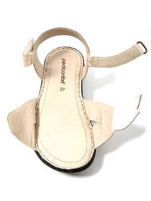 Sandales ouverture totale, cuir irisé