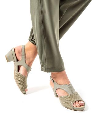 Sandales cuir style croco PEDICONFORT®