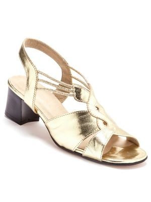 Sandales cuir enfilage facile