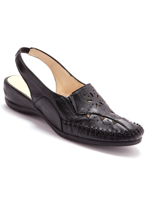 Sandales cuir ajouré talon 4cm