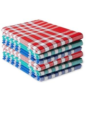 Lot de 6 serviettes de table carreaux