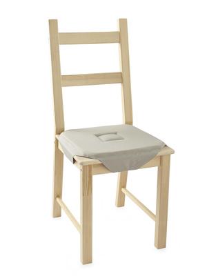 Galettes de chaise unies lot de 2