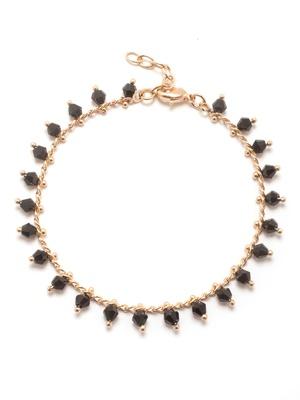 Bracelet pierres bleu, plaqué or