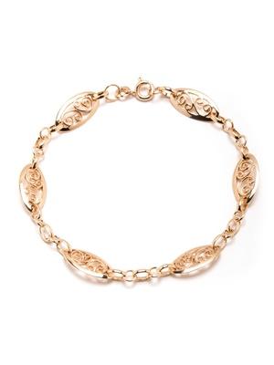 Bracelet plaqué or maille filigranée