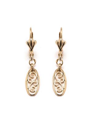 Boucles d'oreilles arabesques plaqué or