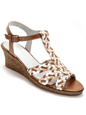 Sandales en cuir tressé
