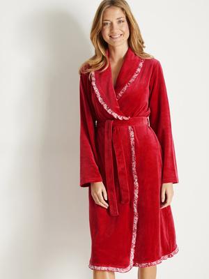 Robe de chambre maille velours