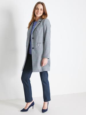 Manteau 3/4, style pardessus, 30% laine