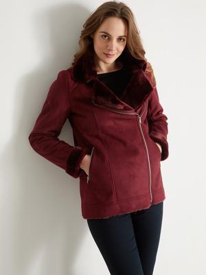 Manteau façon peau lainée
