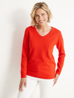 Pull encolure V manches longues