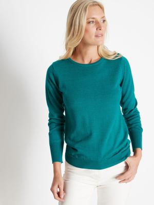 Pull 50% laine mérinos col rond