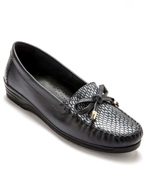 Mocassins fantaisie reptile