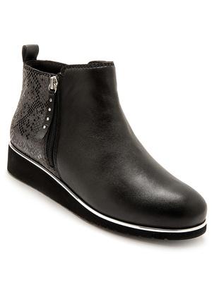 Boots avec double glissière