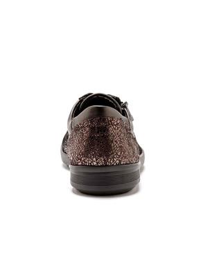 Baskets zippées cuir, semelle amovible