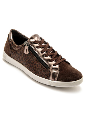 Baskets zippées cuir semelle amovible