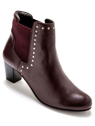 Boots cuir avec élastique côté et dos