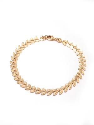 Bracelet plaqué or, motif épis