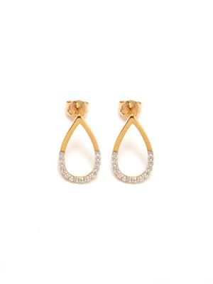 Boucles d'oreilles zirconias, plaqué or