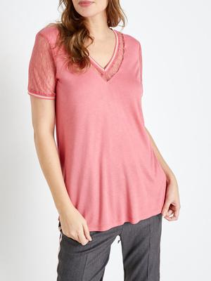 Tee-shirt manches courtes dentelle