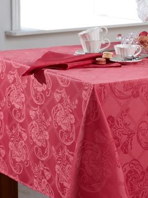 Lot de 3 serviettes de table damassées