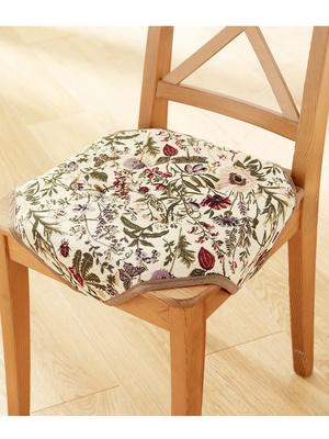 Galettes de chaise fleuries, lot de 2
