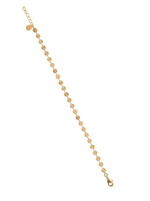 Bracelet façon sequins plaqué or