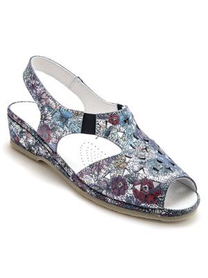 Sandales cuir, à aérosemelle®