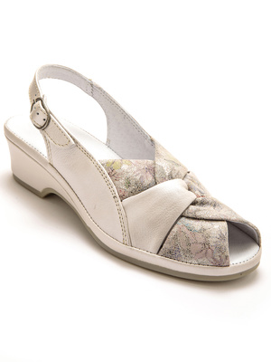 Sandales en cuir, extra larges