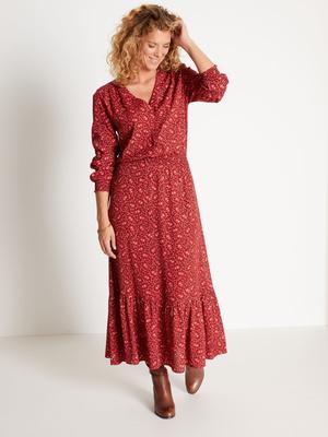 Robe taille smockée, style bohème