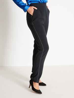 Pantalon fluide, avec bande côté