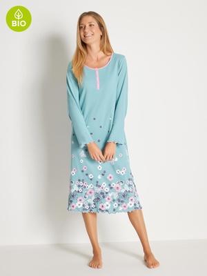 Chemise de nuit longue, coton bio