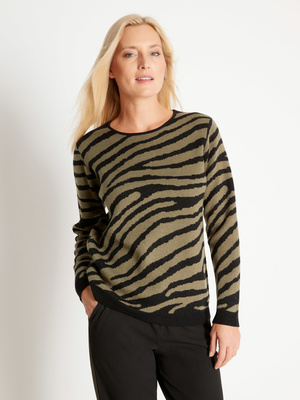 Pull tendance animale, 25% laine