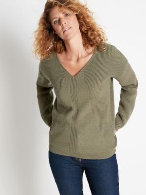 Pull point fantaisie, avec laine