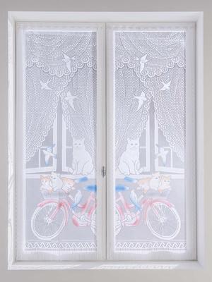 Paire de vitrages droits chatons et vélo