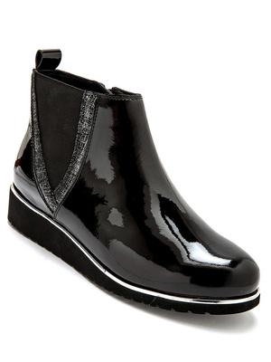 Boots zippées vernies à aérosemelle®
