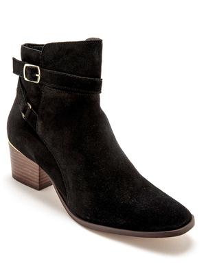 Boots cuir à zip