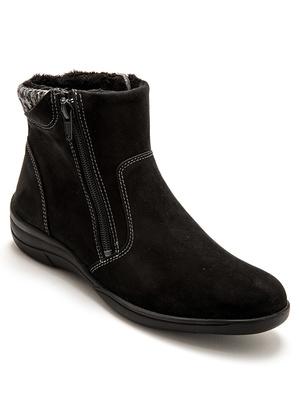 Boots fourrées à zips